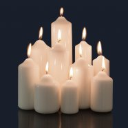 Candele laccate con punta