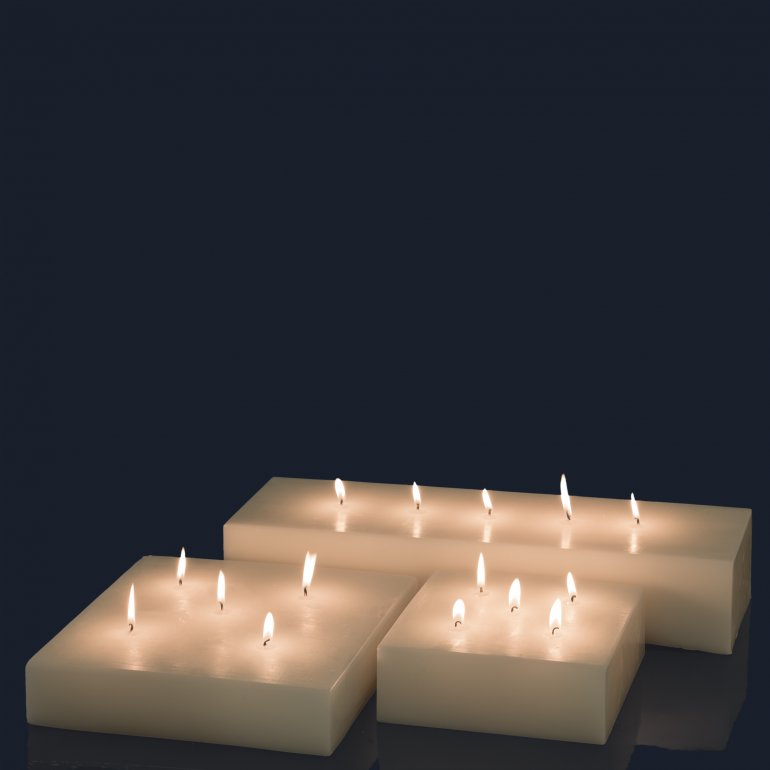 Candele Plate Qube